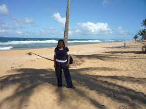 Renetta Tull at Piñones Beach