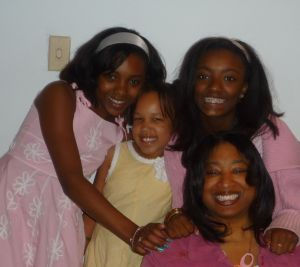 Renetta with Nieces