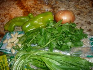 Ingredients for Sofrito -- seasoning for foods in PR (for Guisados)