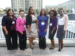 Renetta Tull (blue), with PROMISE graduate students from UM College Park and UMBC at the SREB Institute for Teaching and Mentoring in Tampa, FL, October 2012.