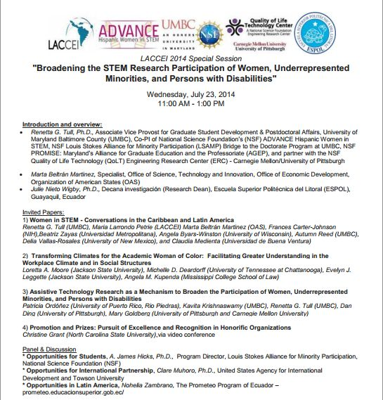 Agenda - Broadening the STEM Research Participation of Women-URM-Disabilities-FinalAfterPHOTO