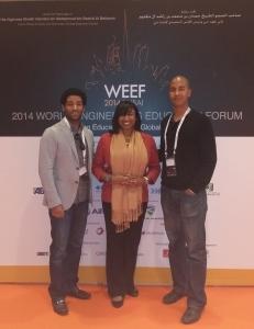 In Dubai with Dr. Darryl Williams (Tufts University, USA) and Dr. David Delaine (Universidade de São Paulo, Brazil)