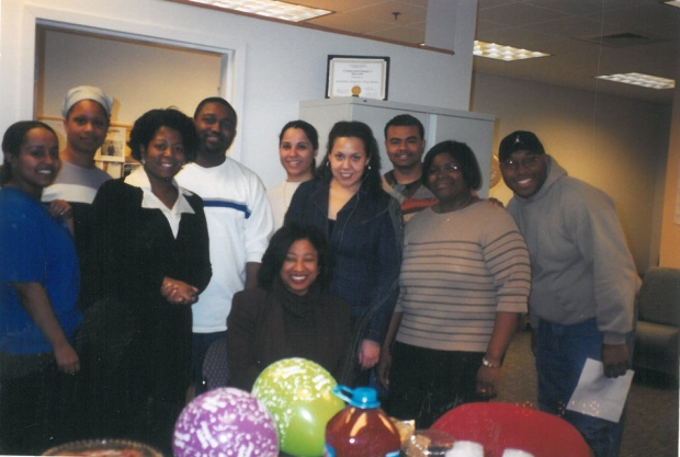 Photo taken during my first year as the PROMISE Director. This was the first cohort of Peer Mentors; they gave me a surprise birthday party!
