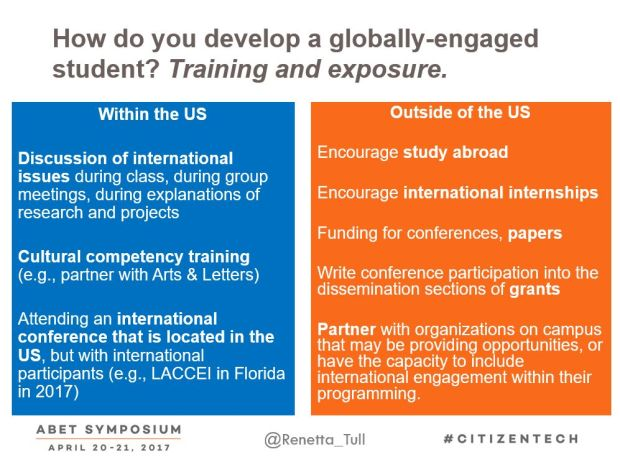 Global training from ABET 2017 talk