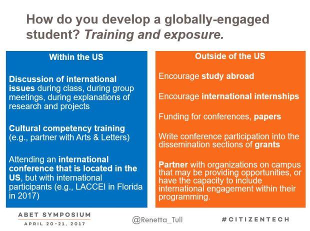Global training from ABET 2017 talk